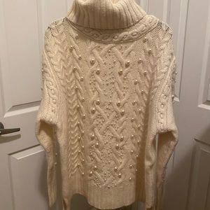 Rachel Zoe Pearl Knit Turtleneck Sweater